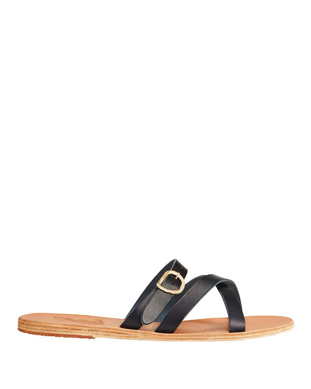 Ancient Greek Sandals Axia Buckled Strap Sandal: Navy