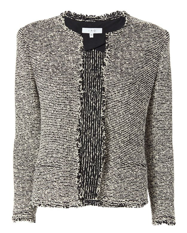 IRO Azure Knit Jacket: Black/White