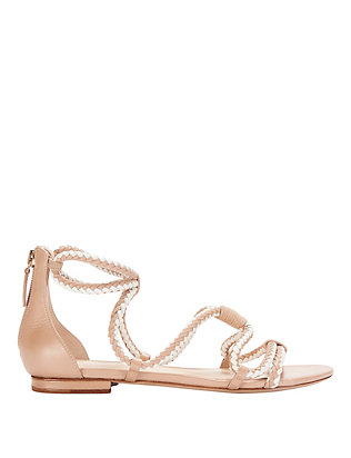 Alexandre Birman EXCLUSIVE Braided Two-Tone Flat Sandal