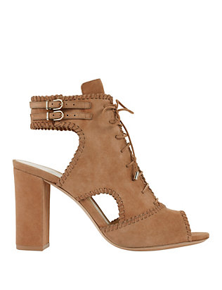 Alexandre Birman Lace-Up Suede Booties