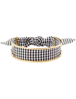 Monica Sordo for Viva Aviva EXCLUSIVE Bandita Gingham/Metal Choker