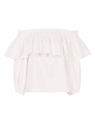Barbie White Off-The-Shoulder Top