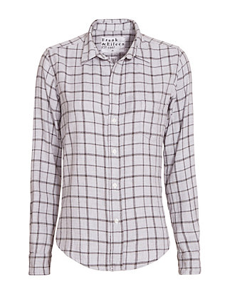 Frank & Eileen Grey Plaid Shirt