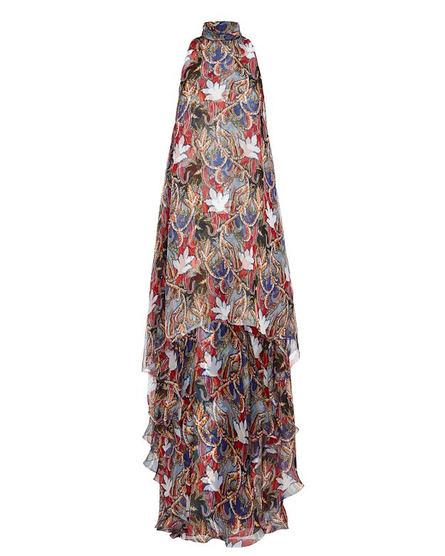 Antonio Berardi Hi/Lo Floral Print Dress