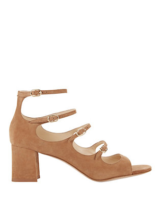 Bernadette Camel Suede Sandals