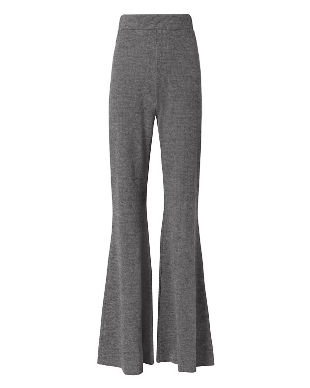 Beaufille Knit Wide-Leg Pant: Grey