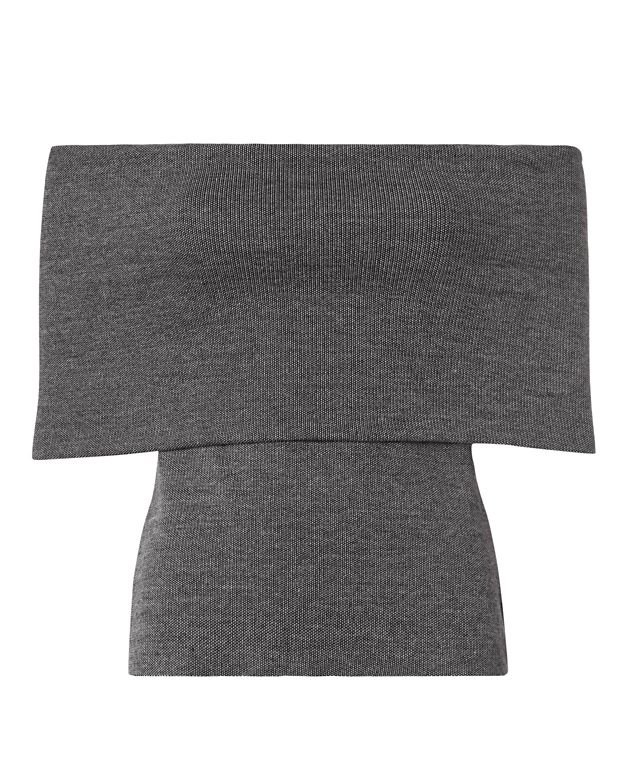Beaufille Off The Shoulder Knit Top: Grey