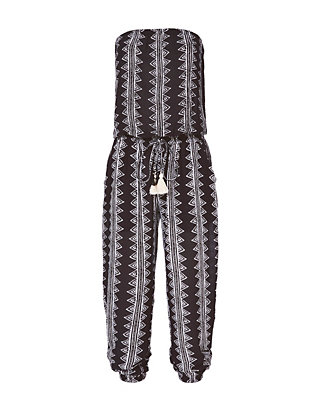 Brooke Abstract Print Strapless Jumpsuit