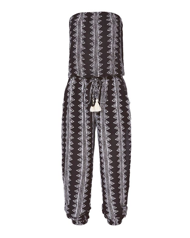 coolchange Brooke Abstract Print Strapless Jumpsuit