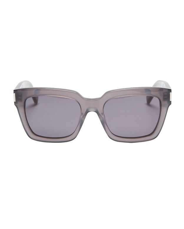 Saint Laurent Bold Grey Square Sunglasses