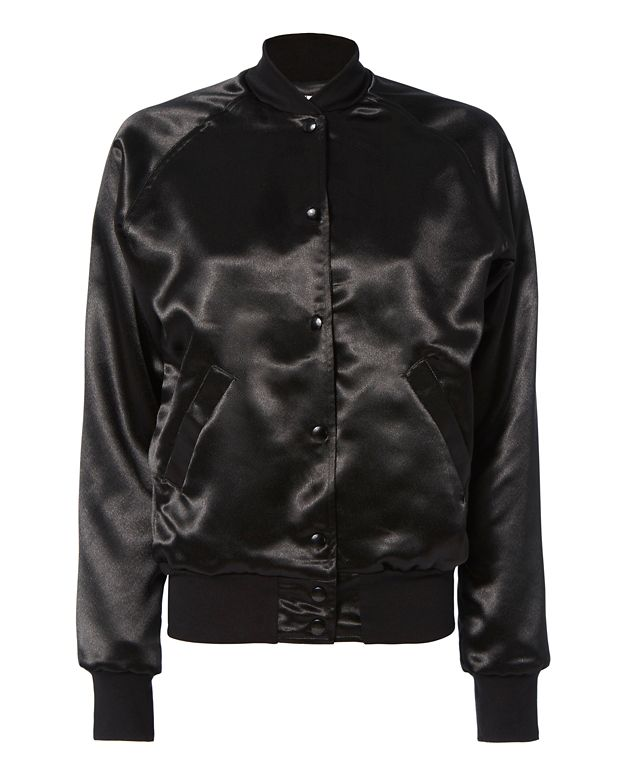Catherine Fulmer Bowie Black Bomber Jacket