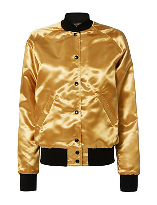 Bowie Gold Bomber Jacket