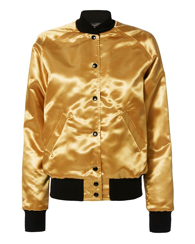 Catherine Fulmer Bowie Gold Bomber Jacket