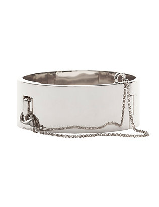 Safety Chain Silver-Tone Cuff
