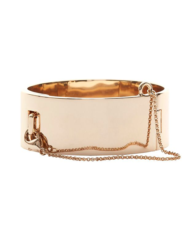 Eddie Borgo Safety Chain Gold-Tone Cuff