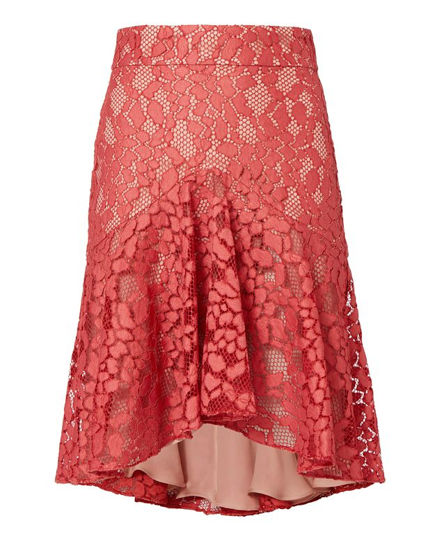 Alexis Braxten Flounced Lace Skirt