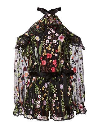 Brenna Cold Shoulder Floral Romper