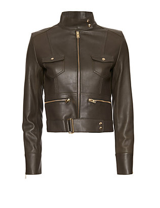 IRO EXCLUSIVE Broome Leather Jacket: Olive