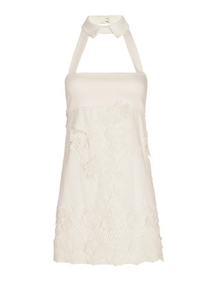 Alexis Bruna Lace Detailed Collared Dress