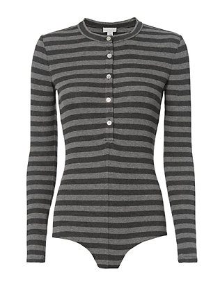Henley Stripe Bodysuit- FINAL SALE