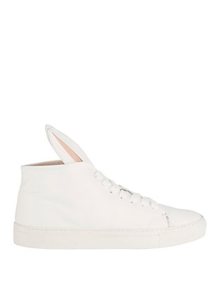 Bunny Hi-Top Leather Sneakers