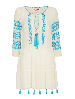 Rococo Sand Tassel Embroidery Dress