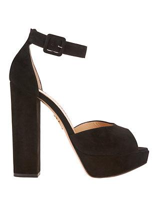 Eugenie Suede Peep-Toe Sandals