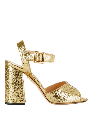Emma Gold Glitter Sandals