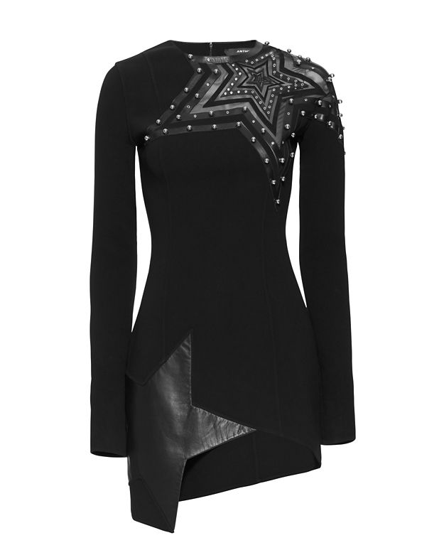 Anthony Vaccarello Studded Star Detailed Dress