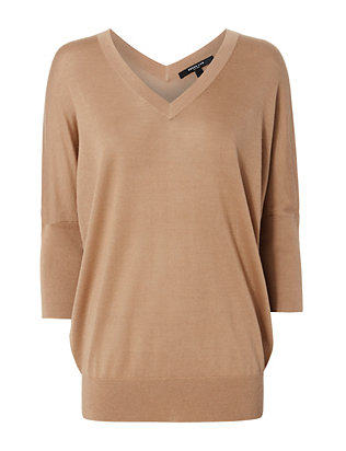 Core Camel Batwing Sweater