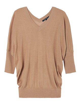 Batwing Sweater: Camel