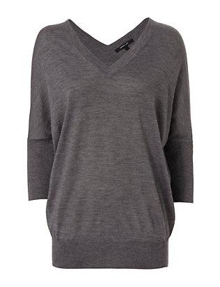 Batwing Sweater: Grey
