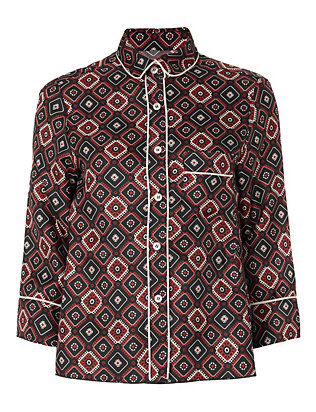 For Restless Sleepers Bandana Artemide Print Blouse