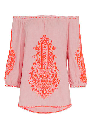 Christophe Sauvat EXCLUSIVE Cai Cai Embroidery Top