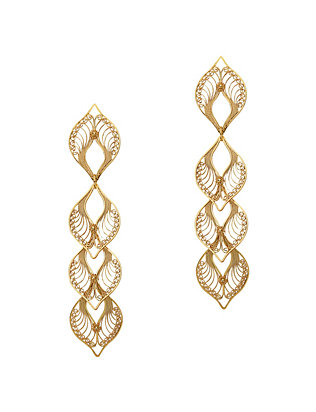 Mallarino Candelaria Gold Work Drop Earrings