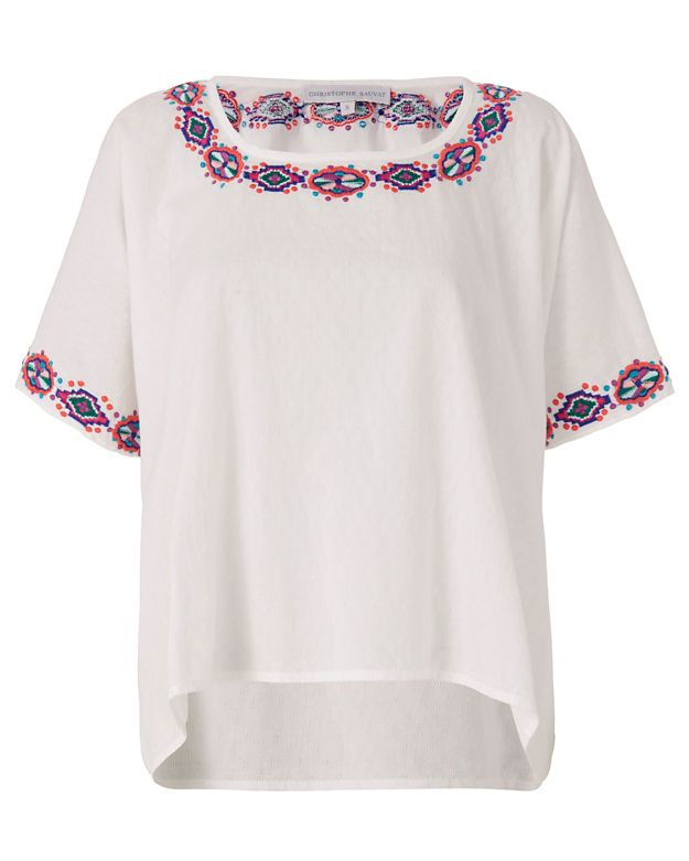 Christophe Sauvat Carreyes Embroidered Top