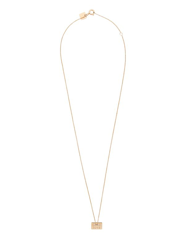 Ginette NY Mini Love Plate Necklace