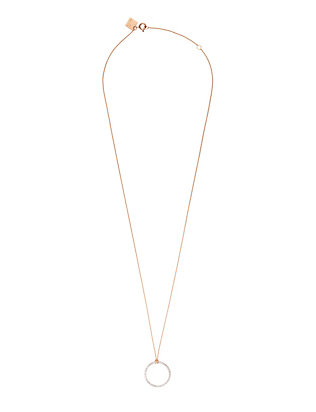 Ginette NY Diamond Circle Pendant Necklace