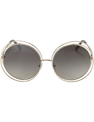 Chloe Carolina Wire Rim Sunglasses: Grey