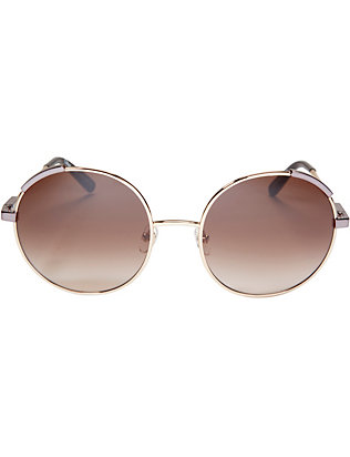 Chloe Nerine Metal Round Sunglasses: Brown