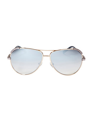 Nerine Metal Aviator Sunglasses: Blue