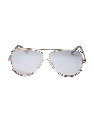 Chloe Gold-Tone Metal Aviator Sunglasses