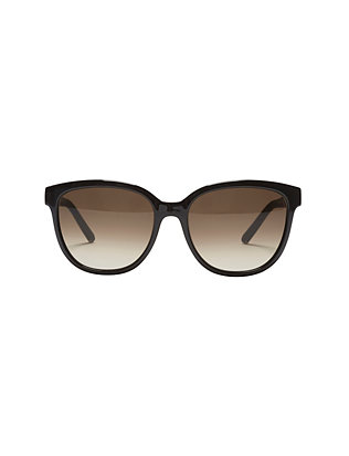 Chloe Daisy Oversized Cat Eye Sunglasses: Black