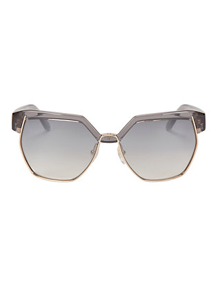 Dafne Metal/Plastic Frame Sunglasses: Grey