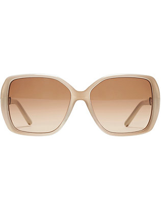 Chloé Daisy Square Sunglasses: Grey