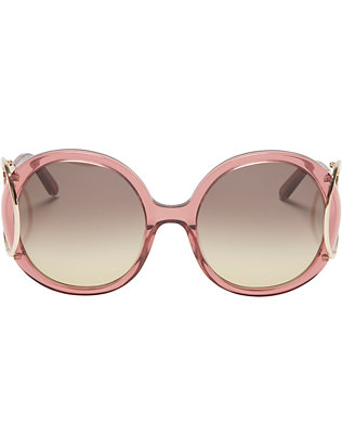 Jackson Round Sunglasses: Rose