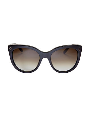Chloe Boxwood Acetate Sunglasses: Black