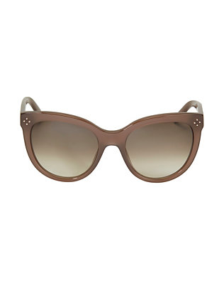 Chloe Boxwood Acetate Sunglasses: Brown