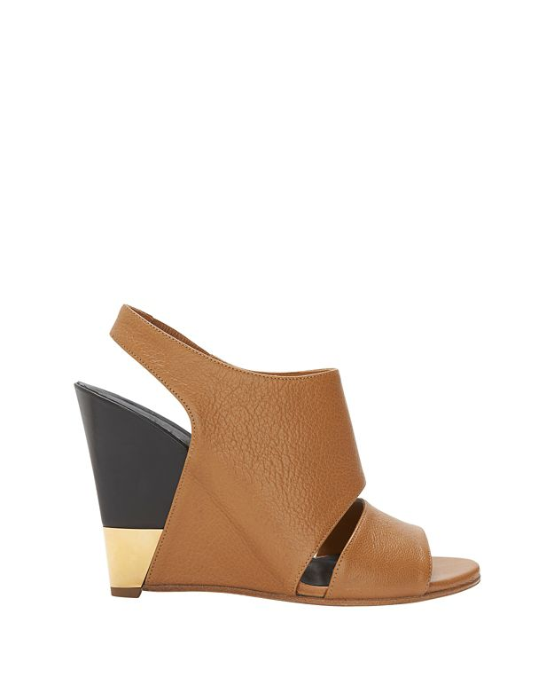Chloe Slingback Leather Wedge