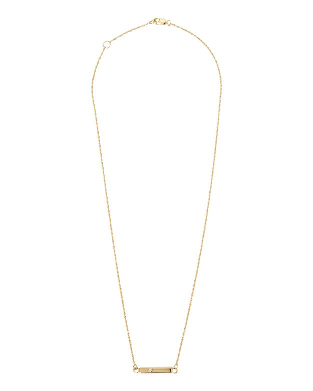 Jennifer Zeuner Mini Chelsea Bar Necklace